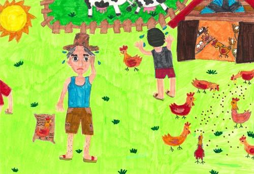琴棋书画 三年级美术画画yu作品  小学一年级美术画_小学一年级美术画图片