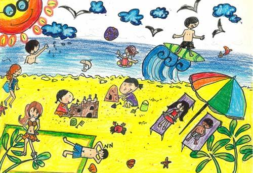 三年级美术画画yu作品展示图片
