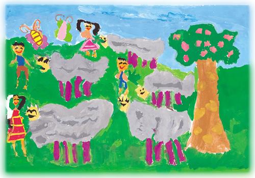 三年级美术画画yu作品展示
